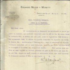 Cartas comerciales: CARTA COMERCIAL DE EDUARDO MEYER Y MORETTI. BARCELONA. 1915. Lote 42471293