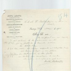 Cartas comerciais: CARTA COMERCIAL JOVITA LABARTA, FARMACÉUTICO, SANTIAGO 25 MAY 1900, VALDESPINO JEREZ. Lote 42941998
