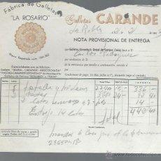 Cartas comerciais: CARTA COMERCIAL FÁBRICA DE GALLETAS LA ROSARIO, CARANDE, LA ROBLA, LEÓN, 2 FEBRERO 1963. Lote 116566010