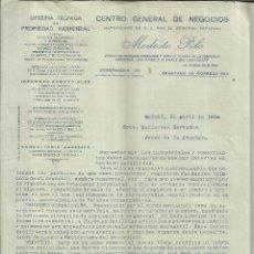 Lettere commerciali: CARTA CIRCULAR DE MODESTO POLO. OFICINA TÉCNICA DE PROPIEDAD INDUSTRIAL. MADRID. 1924. Lote 42959954