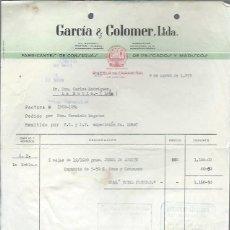 Cartas comerciales: CARTA COMERCIAL GARCÍA Y COLOMER, CONSERVAS, PUEBLA DEL CARAMIÑAL, LA CORUÑA 9 MARZO 1955. Lote 42994388