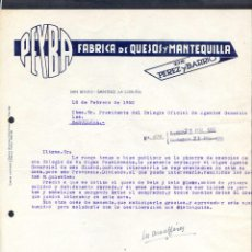 Cartas comerciales: A CORUÑA. SAN BENITO - SANTISO. *PEYBA. FÁBRICA DE QUESOS...* FECHADA 1950.. Lote 43137246