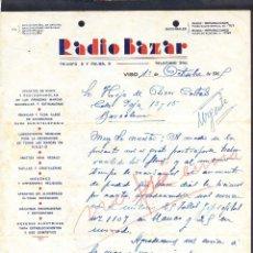 Cartas comerciales: PONTEVEDRA. VIGO. *RADIO BAZAR...* FECHADA 1949.. Lote 43139179
