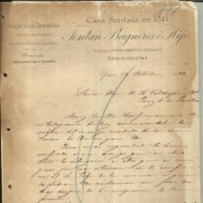 Cartas comerciais: CARTA COMERCIAL DE FONTAN BAGNERES E HIJO. AGENCIA DE ADUANAS YRUN-HENDAYE.IRUN. GUIPÚZCOA. 1899. Lote 43150047