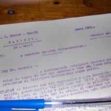 Cartas comerciales: J C BUHLER Y CASSIN, ACEITES DE OLIVA, VINOS. DAIMIEL CIUDAD REAL 1923. CIRCULAR 23.. Lote 43351019