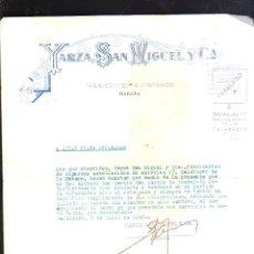Cartas comerciales: CARTA COMERCIAL. FABRICANTES DE TABACO. YARZA SAN MIGUEL Y CIA. HABANA. 1940. Lote 43621699