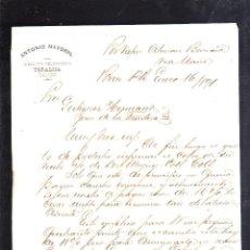 Cartas comerciales: CARTA COMERCIAL. ANTONIO MAYORAL. YORALMA. PONCE, PUERTO RICO. 1891. 2 HOJAS. Lote 43763870