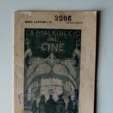 Cartas comerciais: BONA LLEVOR Nº 61. LA MALEDICCIO DEL CINE. Lote 43873799