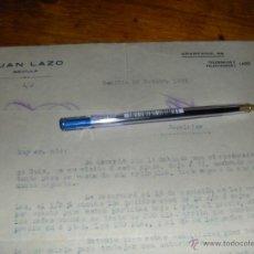 Cartas comerciales: JUAN LAZO, COLONIALES. SEVILLA 1922.. Lote 43966544