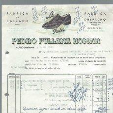 Cartas comerciales: CARTA COMERCIAL FÁBRICA DE CALZADO PEDRO FULLANA HOMAR, ALARÓ MALLORCA 13 JUNIO 1960. Lote 44050065