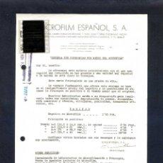 Cartas comerciais: MADRID. *MICROFILM ESPAÑOL, S.A.* FECHADA 1950.. Lote 44191206