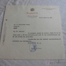 Cartas comerciales: MAYFAIR S.A.MUEBLES Y DECORACION MADRID 1966. Lote 44204247