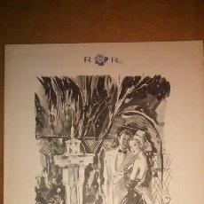 Cartas comerciales: CARTA-MENÚ ROSALEDA / BARCELONA / 1948 / DIBUJO EN CUBIERTA DE PERE CLAPERA. Lote 44432001