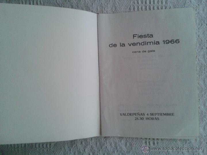 Cartas comerciales: CARTA HOTEL RESTAURANTE EL HIDALGO FIESTAS DE LA VENDIMIA 4 SEPTIEMBRE 1966. VALDEPEÑAS. CIUDAD REAL - Foto 2 - 44451555