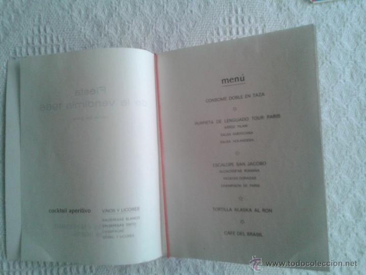 Cartas comerciales: CARTA HOTEL RESTAURANTE EL HIDALGO FIESTAS DE LA VENDIMIA 4 SEPTIEMBRE 1966. VALDEPEÑAS. CIUDAD REAL - Foto 3 - 44451555