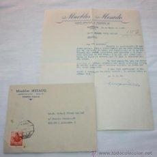Cartas comerciales: CARTA EN SOBRE DE MUEBLES MESADO POR DEVOLUCION DE LETRA, VALENCIA 1961, SELLOS ANTIGUOS. Lote 44561465