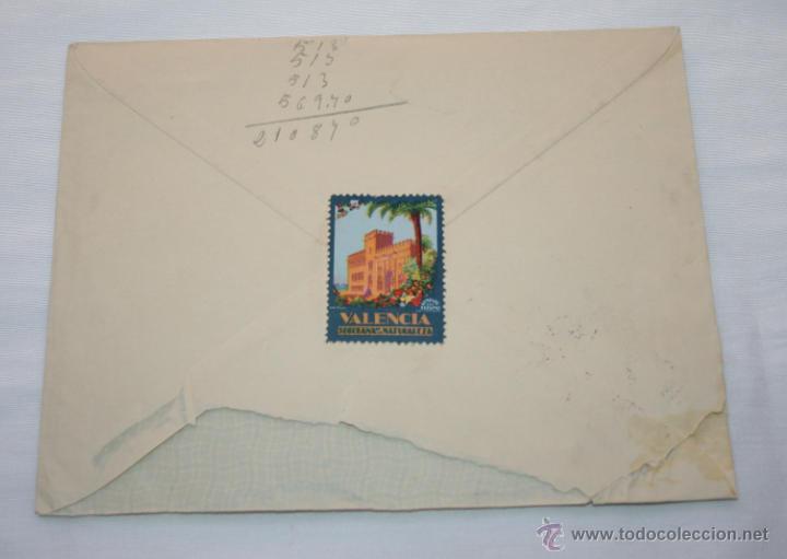 Cartas comerciales: CARTA EN SOBRE DE MUEBLES MESADO POR DEVOLUCION DE LETRA, VALENCIA 1961, SELLOS ANTIGUOS - Foto 3 - 44561465