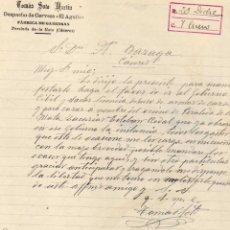 Cartas comerciales: TOMÁS SOTO MARTÍN. DESPACHO DE CERVEZA EL AGUILA. FÁBRICA DE GASEOSA. PERALEDA DE LA MATA CÁCERES. Lote 45095904