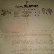 Cartas comerciales: ANTIGUA CARTA DE JUAN MICHELIN MADRID 1930. Lote 45113210