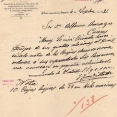 Cartas comerciais: FRANCISCO MATEO. FERRETERÍA, DROGAS, SARTENES, ETC VILLANUEVA DE LAS SERENA. BADAJOZ. 1931. Lote 45136094