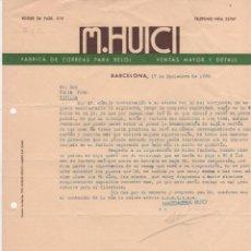 Cartas comerciales: CARTA COMERCIAL FÁBRICA DE CORREAS PARA RELOJES M. HUICI. BARCELONA 1935. Lote 45199554