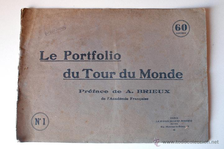LE PORTFOLIO DU TOUR DU MONDE Nº1 (PARIS). 16 LÁMINAS CIUDADES DEL MUNDO. MUY ANTIGUO (Coleccionismo - Documentos - Cartas Comerciales)
