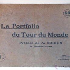 Cartas comerciales: LE PORTFOLIO DU TOUR DU MONDE Nº1 (PARIS). 16 LÁMINAS CIUDADES DEL MUNDO. MUY ANTIGUO. Lote 45200634