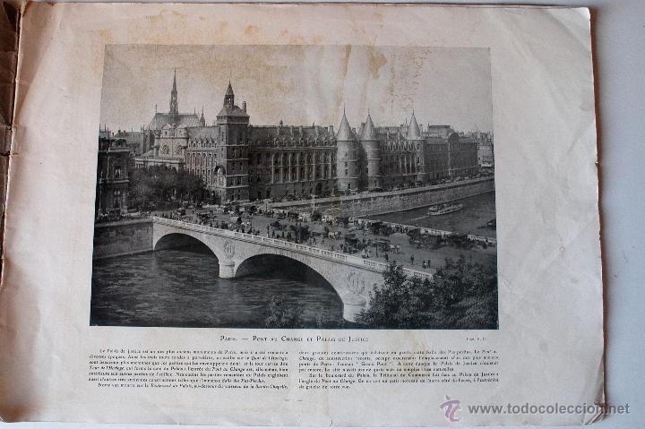 Cartas comerciales: LE PORTFOLIO DU TOUR DU MONDE Nº1 (PARIS). 16 LÁMINAS CIUDADES DEL MUNDO. MUY ANTIGUO - Foto 2 - 45200634