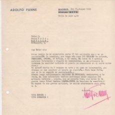 Cartas comerciales: CARTA COMERCIAL ADOLFO PANNE. MADRID 1940. Lote 45275596