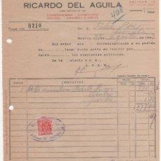Cartas comerciales: CARTA COMERCIAL RICARDO DEL AGUILA: CONDECORACIÓN, ESTAMPACIÓN METÁLICA, SUMINISTRO EJÉRCITO. MADRID. Lote 45370206