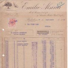 Cartas comerciales: 3 CARTAS COMERCIALES EMILIO ALSINA. BADALONA 1942. Lote 45387374