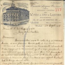 Cartas comerciales: CARTA COMERCIAL DE AND. BRISSET & FILS. CANADA LIQUOR CO, LIMITED. MONTREAL. CANADA. 1899. Lote 45536573
