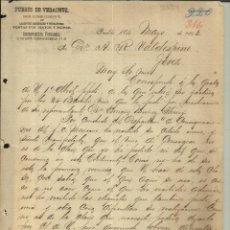 Cartas comerciales: CARTA COMERCIAL DE BUENAVENTURA FERNÁNDEZ. PUERTO DE VERACRUZ. PUEBLA. MÉXICO. 1893. Lote 45742916
