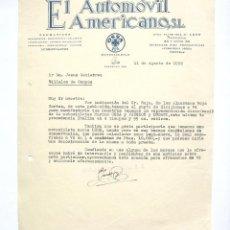 Cartas comerciales: CARTA COMERCIAL EL AUTOMOVIL AMERICANO. MOTOCICLETAS OSSA. LEÓN 1956. Lote 45760755