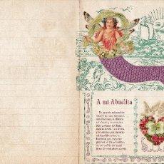 Cartas comerciales: A MI ABUELITA. CARTA CON POEMA E ILUSTRACIÓN. INTERIOR PARA ESCRIBIR. NUEVA.. Lote 46311742