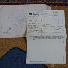 Cartas comerciales: CARTA COMERCIAL SEGUROS BILBAO COMPAÑIA ANONIMA INCLUYE SOBRE SUCURSAL DE LLODIO ALAVA. Lote 46466516