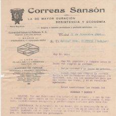 Cartas comerciales: CARTA COMERCIAL CORREAS SANSÓN. MADRID 1926. Lote 46571219
