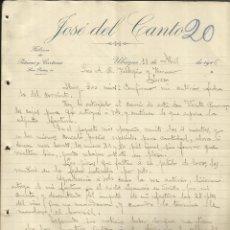 Cartas comerciales: CARTA COMERCIAL DE JOSÉ DEL CANTO. FÁBRICA DE PETACAS Y CARTERAS. UBRIQUE. CÁDIZ. 1916 . Lote 46876012