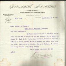 Cartas comerciales: CARTA COMERCIAL DE FERROCARRIL MEXICANO. VERACRUZ. MÉXICO. 1900. Lote 46878096