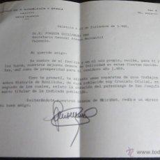 Cartas comerciales: CARTA MECANOGRAFIADA DEL CRONISTA DE BENILLOBA AL SECRETARIO ATENEO MERCANTIL DE VALENCIA. Lote 47347197