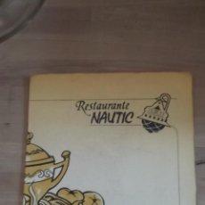 Cartas comerciales: CARTA DE RESTAURANTE NAUTIC CASTELLDEFELS BARCELONA AÑOS 70 . Lote 47362747