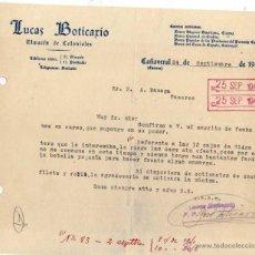 Lettere commerciali: LUCAS BOTICARÍO. ALMACÉN DE COLONIALES. CAÑAVERAL. CÁCERES. 1942. Lote 47557429