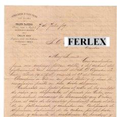 Cartas comerciales: AGENCIA GENERAL DE CLASES PASIVAS DE CUBA.FELIPE PACHECO-EMILIO ROIG.MADRID-LA HABANA.1890. Lote 47601154
