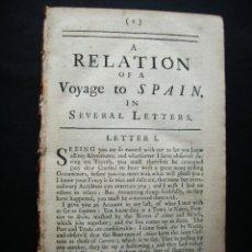 Cartas comerciales: 1679-SAN SEBASTIAN-DONOSTIA-CARTAS RELATO DEL VIAJE DE UNA MUJER INGLESA POR ESPAÑA-RARO EN SU EPOCA. Lote 47674330