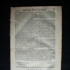Cartas comerciales: 1673-VITORIA-GASTEIZ-CARTAS RELATO DEL VIAJE DE UNA MUJER INGLESA POR ESPAÑA-RARO EN SU EPOCA. Lote 47674799