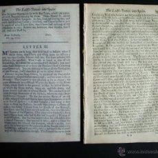 Cartas comerciales: 1673-BURGOS-CARTAS RELATO DEL VIAJE DE UNA MUJER INGLESA POR ESPAÑA-RARO EN SU EPOCA. Lote 47674866