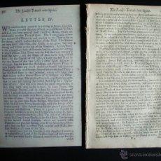 Cartas comerciales: 1679-LERMA-CARTAS RELATO DEL VIAJE DE UNA MUJER INGLESA POR ESPAÑA-RARO EN SU EPOCA. Lote 47684609