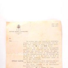 Cartas comerciales: CARTA JEFATURA DISTRITO UNIVERSITARIO VALENCIA AÑO 1943, REVOLUCION NACIONAL SINDICALISTA. Lote 47954563