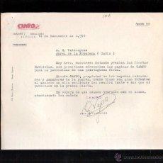 Cartas comerciales: CARTA COMERCIAL. PUBLICIDAD. REVISTA MENSUAL AGROPECUARIA. 1951. DIRIGIDA A VALDESPINO.. Lote 48430351