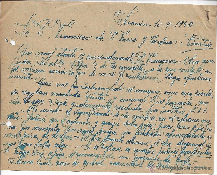 CARTA COMERCIAL MANUSCRITA (Coleccionismo - Documentos - Cartas Comerciales)